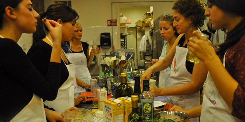 cooking party per addio al nubilato