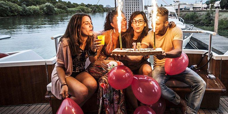 barca per feste roma
