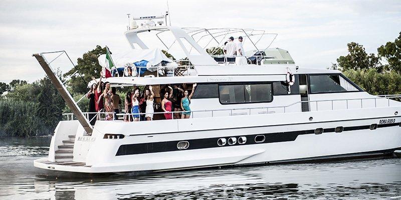 Feste in barca roma