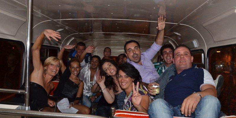 Festa di Compleanno a Roma sul Bus Inglese