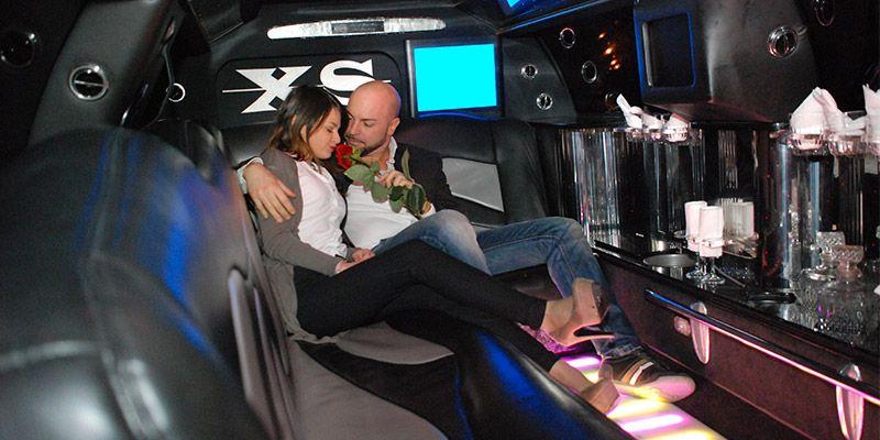Limousine per serata Romantica roma