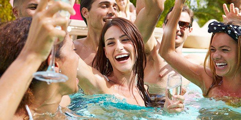 Pool party per feste roma