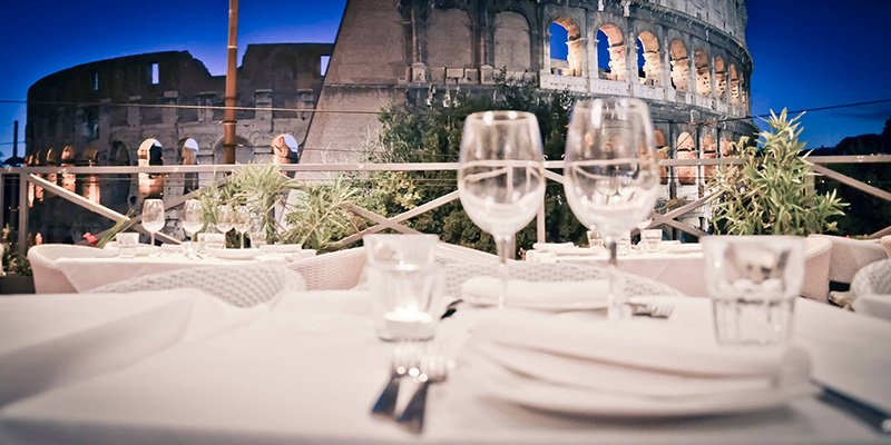 Ristorante panoramico per feste roma