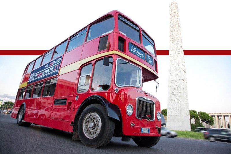 Bus Inglese per festa in movimento