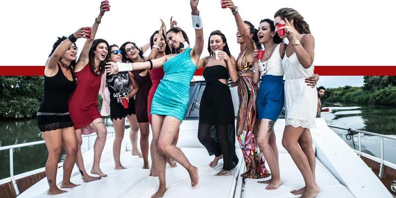 Festa in barca per Addio al Nubilato Roma