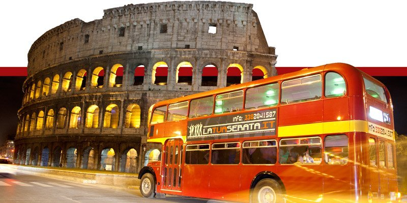 bus per feste private roma