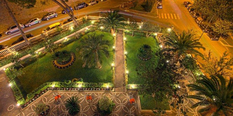 Vista aerea del Grand Hotel Gianicolo