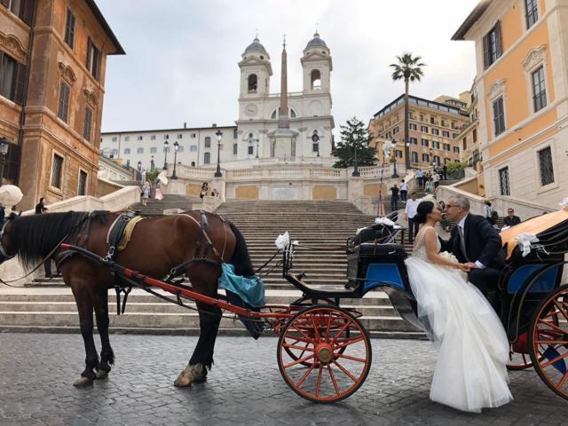 passeggiata in carrozza centro di Roma