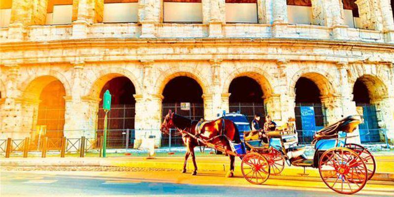 romantica passeggiata in carrozza